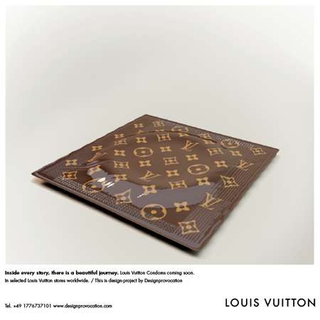 Fashion House Prophylactics - The Louis Vuitton Condom is Stimulatingly Sexy