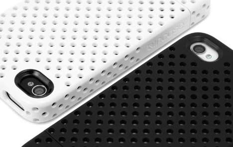 Perforated iphone snap case