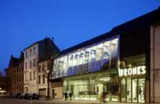 Transparent Urban Architecture - Bronks Youth Theatre is a Contemporary Touch in the Belgian Capital