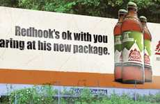Personified Brewski Campaigns - The Redhook Beer Ads are Filled With Cheeky Attitude