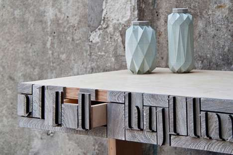 Upcycled Newsprint Decor - NewspaperWood by Mieke Meijer Turns Old News Into New Furniture