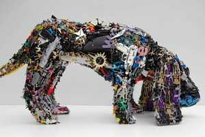 Robert Bradford's Recycled Toy Sculptures are Made of Old Plastic