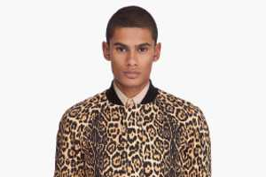 Givenchy Designs Sexy Leopard Varsity Jacket for Men