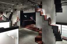 Sporty Staircase Houses - The Nendo Puma House Tokyo is an Exsquisitely Original Event Space
