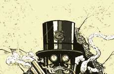 Mechanical Monster Illustrations - The Steampunk Characters Series is a Badass Take Pop Culture