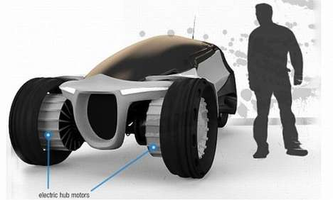 Sun-Shielding Pod Cars - The Kalos Concept Car is Designed for a World With No Ozone