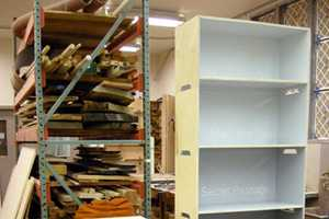 The Matt Kennedy Paintchip Bookshelf Makes Any Room Chipper