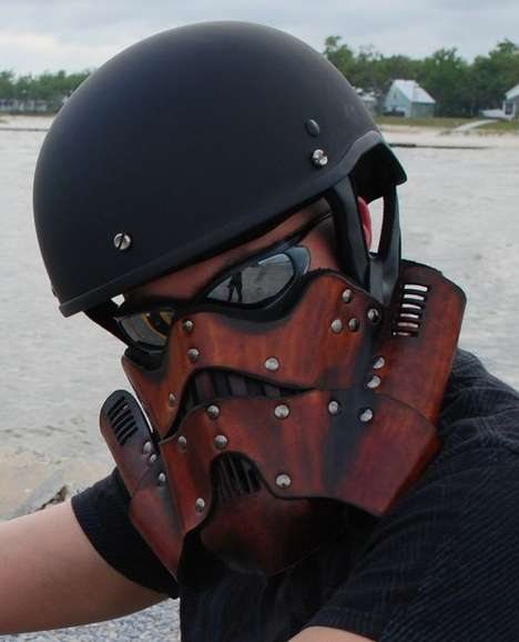 Sci-Fi Face Masks - EpicLeather Creates One Badass Stormtrooper Leather Motorcycle Mask