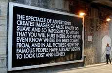 Insightfully Hijacked Adverts - Robert Montgomery Enlightens the General Public Through Wordy Art