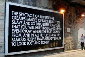 Robert Montgomery Enlightens the General Public Through Wordy Art