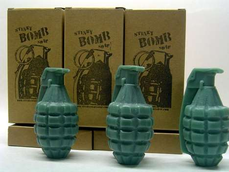 Explosive Hand Soap - Grenade Soap From Stinkybomb is Dynamite