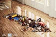 Organized Mess Merchandizing - Tok&Stok Arrow Ads Find Direction for Disorderly Possessions