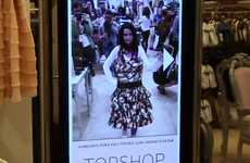 Augmented Reality Changerooms - TOPSHOP Kinect Allows the Users to Try Clothes On Sans Change Rooms