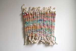 The New Friends Wall Hangings Use Various Fabrics to Create Designs
