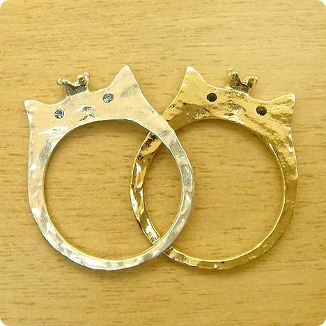 cat-shaped wedding ring
