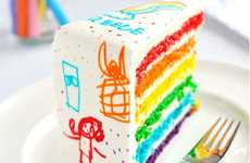 Crayon Box Cakes - The Sweetapolita 'Rainbow Doodle Birthday Cake' is Very Crayola