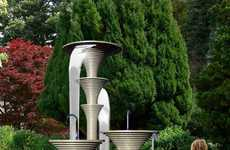Sculptural Outdoor Showers