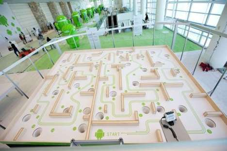 giant Google Xoom labyrinth