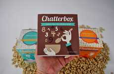Delectable Breakfast Branding - Chatterbox Cereal Packaging Serves Up Food for Thought