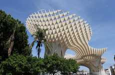 Behemoth Timber Pavilions - Sevilla's Metropol Parasol is the Largest Wooden Structure in the World