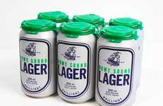 Pill Bottle Beer Branding - Howe Sound Lager Packaging Contains Your Alcoholic Cure