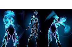 49 Tron-Inspired Innovations - From Flair-Filled Fashion Pictorials to Creative Cellphone Concepts
