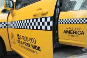 The McDonald's Yellow Cab Campaign Offers People Rides to Try New Burger