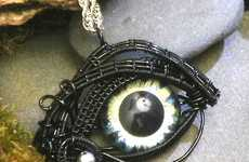 These Twisted Sister Arts Pendants Have Their Eyes on You