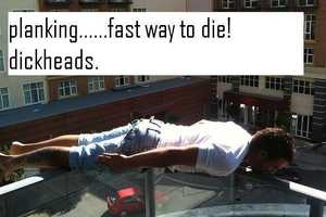 Planking is the Latest Internet Dare Craze