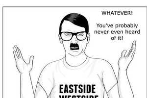 8 Hilarious Hipster Art Creations - From Bike-Riding superheroes to Hipster Hitler