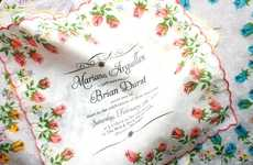 Pocket Square Invites - Benign Objects' Screen-Printed Handkerchiefs are Elegant