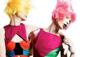 The Kaleidoscope Color Interview Magazine Editorial is a Rainbow of Hues