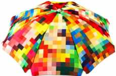 Vibrantly Blurry Umbrellas