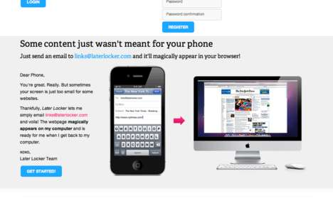 Website Saving Apps - Later Locker Transfers Unviewable Sites to Desktops