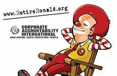 Fast Food Mascot Terminations - Retire Ronald Campaigns for Ronald McDonald's Resignation