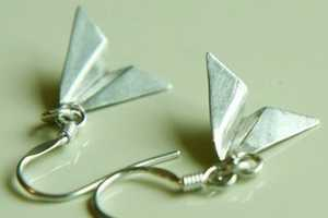 The Paper Plane Earrings by Yellowgoat are Light as a Feather