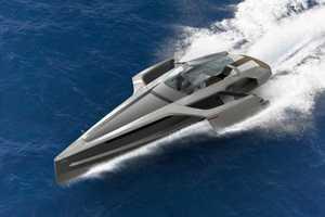 The Audi Trimaran Yacht is Both Elegant and Aggressive