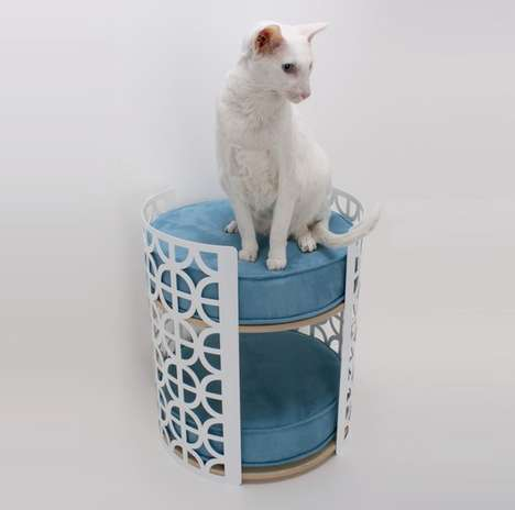 Stylish Feline Beds - The Palm Springs Lounge Modern Cat Bed is the Ultimate in Luxury