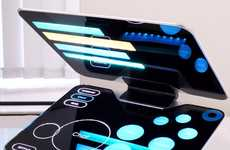 Sci-Fi Touch-Screen Laptops - The Crowd Notebook Seems Inspired by Star Trek's Control Panels