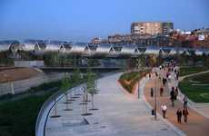 Spiraling Pedestrian Paths