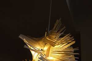 The Recycled Paper Lampshade by Ginkgo Studio Makes Use of Old Paper