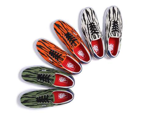 Daring Zebra Sneakers - The Vans X Supreme Shoes Bring Animal Print to Men's Fashion