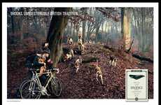 Whimsical Woodland Campaigns - Brooks' Unquestionable British Tradition Ad is Fashionably Foresty