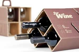 The forWine Packaging is an Innovative Break-Proof Way to Carry Bottles