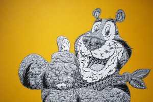 Mark Dean Veca Creates Elaborate Art Based on Animated Food Heroes