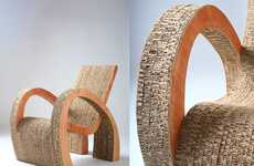 Curvy Cardboard Furniture - Ana Mitrano Uses Recycled Cardboard to Construct Eco-Friendly Furniture