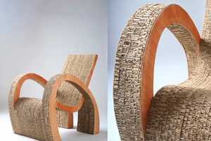 Ana Mitrano Uses Recycled Cardboard to Construct Eco-Friendly Furniture