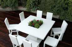 Flower-Filled Furniture - Bysteel's Patio Furniture Has Blossoming Floral Centers
