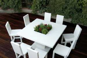 Bysteel's Patio Furniture Has Blossoming Floral Centers