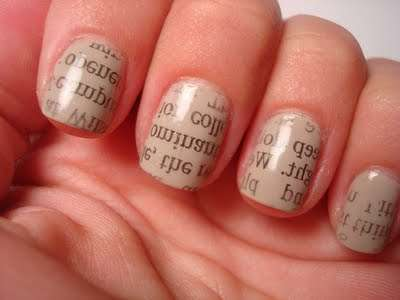 Newspaper Nails - Cute Polish Shows You How to Sport the Headlines as a Manicure